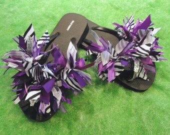 Cheerleading/Gymnastics Team Ribbon Flip Flops