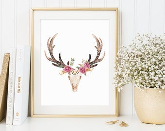 Antlers, Indian, Cherokee, Canvas Pictures, Print Shop, Giclee, Canvas Art, Wall Graphics, Artwork, Canvas Art Prints, Digital Download