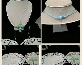 macrame silk cord necklace