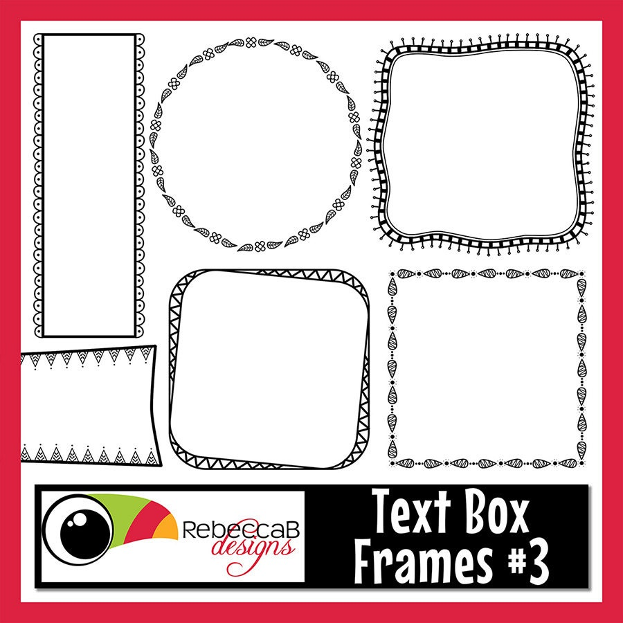 Clipart Doodle Frames Text Box Clip Art Clipart Frames