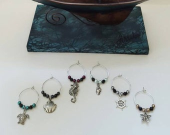 Nautical Wine Charms (Set of 6)