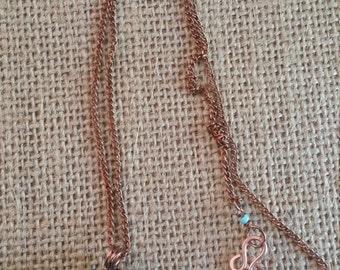 Copper Wire Wrapped Sea Glass