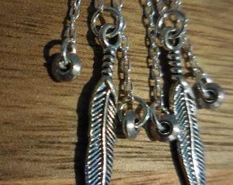 Feather Chain Fringe Earrings