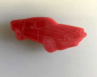 Chevrolet Camaro Fridge Magnet- Independence Day Gifts - Acrylic Kitchen or Office Magnet - Multiple Colours