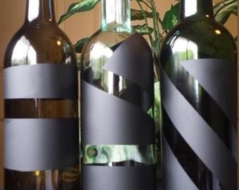 Modern Wine Bottles Centerpiece