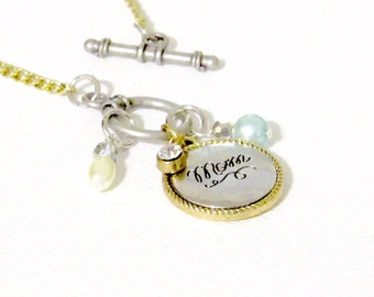 "Engraved Necklace ""Mom""-Inspired Collection"