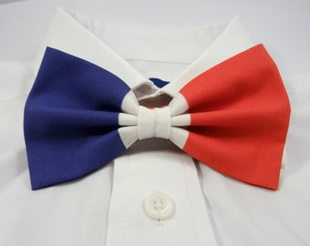 French Flag Bow Tie