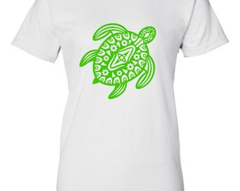 TURTLE T Shirt - Turtle Design - Child's T Shirt - Ladies T Shirt - Mens T Shirt - Womens T Shirt - Tribal Turtle T Shirt - Cute T Shirt