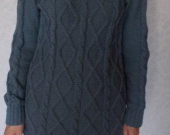"Knitted dress Dress knitting Handmade Dress-related pattern ""Spit"""