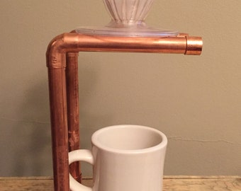 Copper Pourover Stand/Coffee Drip Station (for Hario V60 & Kalita Wave Drippers)