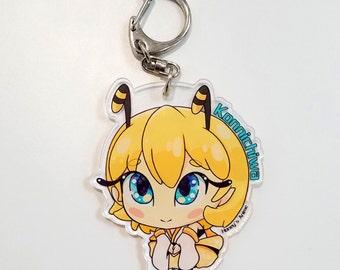 Honey-chan Konnichiwa Keychain | Honey's Anime