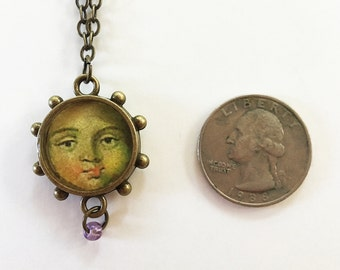 Antique Baby Face Necklace
