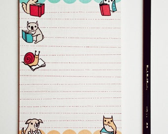 Reader Gift - Reader Notepad - Book Lovers Gifts - Library Notepad - Book Nerd Gift Ideas