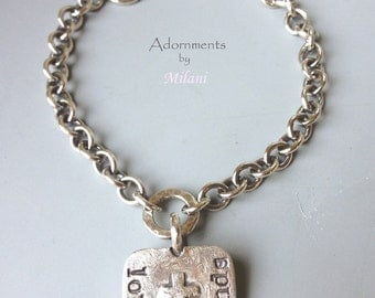 Loss of Grandma Grandmother Bracelet Grieving Bereavement Jewelry Sterling Silver Personalized