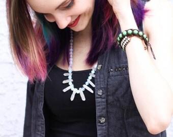 Angel Aura Quartz Point, Moonstone, & Opalite Fairy Princess Necklace