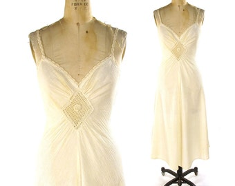 70s Indian Cotton Sundress / Vintage 1970s Bohemian Sheer Cotton Gauze Summer Dress in Creme / Hippie Boho Strappy Dress with Crochet Trim