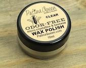 Wax Polish For Metals - Micro-crystalline & Beeswax - ODOR FREE - Clear - Wax Paste - Metal Sealant - Handmade Wax Polish by Patina Queen