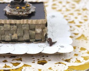 Chocolate Truffle Sculpture Recycled Cardboard  Art Home Decor