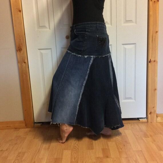 denim plus size blue jean skirt stretch