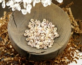 Set of 170 Small Round Speckled Swirl Shell Cap Disc Beads - (5mm)