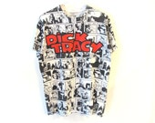 1990 Dick Tracy Black and White Comic Cartoon T-Shirt