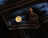 Mini button lapel pin, brass pin
