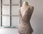 Bride to Be Mauve Lace Bodysuit