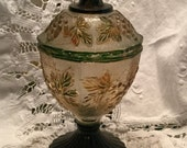ON HOLD for patterns99 Vintage Stippled Grape Depression Glass Candy Jar Jeanette Glass Co