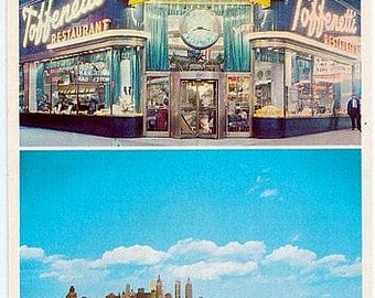 Vintage New York City Postcard - Toffenetti Restaurant in Times Square (Unused)