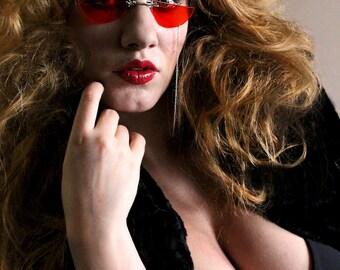 Red Steampunk Sunglasses