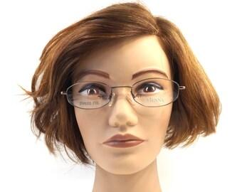 matte bronze. eye glasses. deadstock vintage. 90s eyeglasses. eyeglasses men. eyeglasses women. eyeglasses unisex. oval eyeglasses. NOS 119
