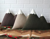 the Peaks - ORIGINAL Mountain Pillow - made to order