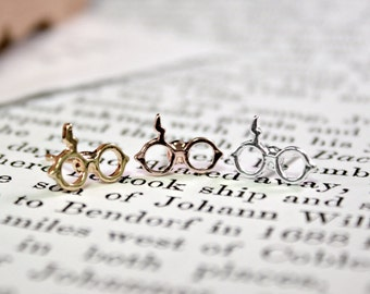 Harry Potter Stud Earrings - Harry Potter Inspired - Dainty Sized Glasses with Iconic Lightning Scar