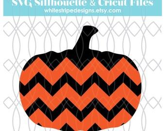 Chevron Pumpkin svg, jpg, png, jpg clipart Digital File - fall cut file, cricut cut file, silhouette cut file Instant Download