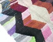 """Vintage Moroccan Kilim - BOUCHEROUITE Rug  """"color"""""""