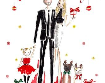 Custom Holiday Cards, Holiday Greeting Cards, Christmas Cards, Happy Holidays Card, Custom Christmas Card