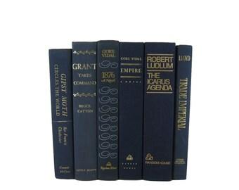 Blue  Decorative Books , Wedding Decor , Home Decor,  Vintage  Books , Photography Prop , decorative books , old books ,