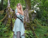 Selkie Outfit ~ Long Triple Layer Skirt, Top and Bolero ~ Made to Measure ~ Cotton Jersey ~ Faerie Wear ~ Quintessential Forest Camouflage