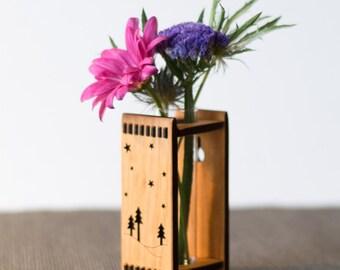 Wood Bud Vase - Twilight