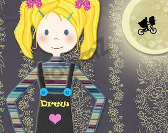 Custom Illustrated Personalized Art for Girls