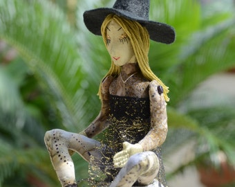 Halloween Witch Art Doll OOAK Lilura