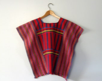 Vintage Huipil Traditional Central American Blouse / Shirt / Tunic Top