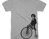 Monkey on a Bike T Shirt Funny T Shirts Mens Tshirts Womens Kids T-Shirts Animal Gifts Bicycle Shirts Bike Geeks Penny Farthing Chimpanzee