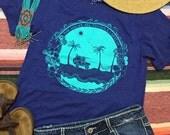 Surfer Shirt, SMALL, Graphic Tee, Tropical Shirt, Beach Tshirt, Surf T shirt, Beach Tee