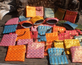 Jewelry Gift Purses,Set Of 50, Wholesale Bags, Coin Purse, Tribal Purse , Draw String Bag, Folk Art Bag, Little Bag
