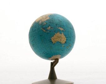 Vintage World Globe 80s  diameter 5 inch