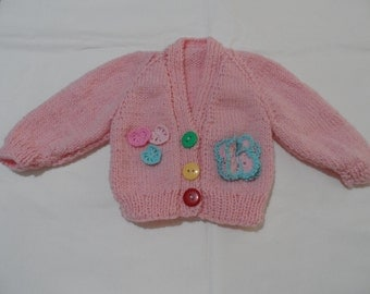Hand Knitted Baby Cardigan - Handmade Wool  Baby Knit - New Born Baby - Knitted Baby Jacket - Woolen Baby Top