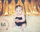 Gold Baby Headbands - Newborn Headbands - Baby Girl - Baby Bow - Baby Girl Headbands - Gold Headband - Baby - Headbands for Baby