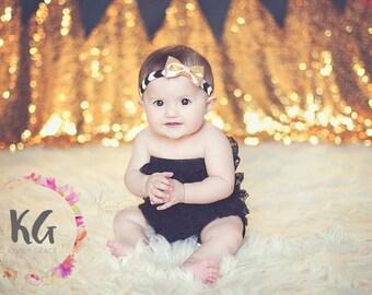 Gold Baby Headbands - Newborn Headbands - Baby Girl - Baby Bow - Baby Girl Headbands - Gold Headband - Baby - Headbands for Baby