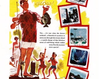 vintage ad for a Florida vacation, from 1954.